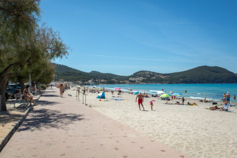 The beach of les Lecques