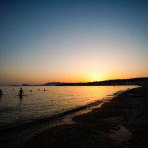 Sunset plage des Lecques